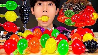 ASMR MUKBANG NEW TIKTOK FRUIT JELLY CHALLENGE 해외 틱톡 과일 젤리 비교 도전 먹방 CANDY EATING SOUNDS