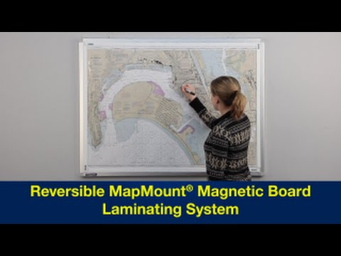 Reversible MapMount® Magnetic Board Laminating System