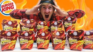 BURGER KING FLAMIN' MAC N' CHEETOS CHALLENGE | 12 BOXES