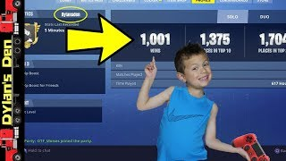"Top 6 Year Old FORTNITE Player add -- ""DylansDen""  18 Kills - Ninja I Challenge You!!!"