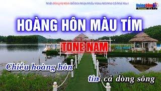 Hoàng Hôn Màu Tím Karaoke Rumba - Hoàng Dũng Karaoke Tone Nam
