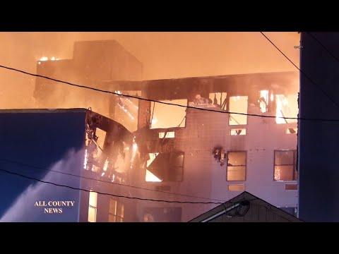 BOUND BROOK -  Massive 7-Alarm Fire on East Main Street