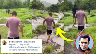 Salman Khan is ENJOYING nature's beauty as he walks in his..