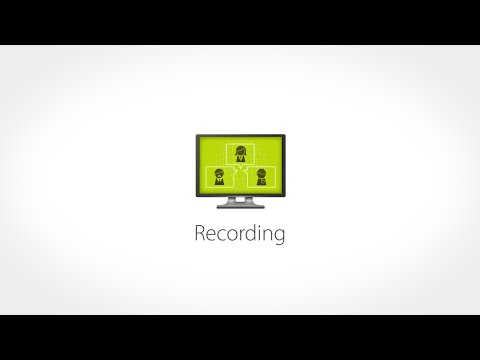 Record a Meeting - Web Conference