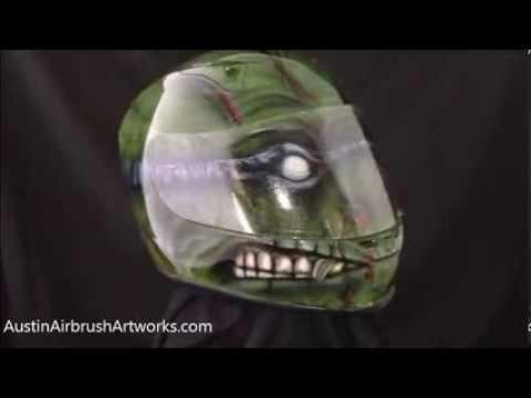 Custom Airbrush Painted Ninja Turtle Motorcycle Helmet