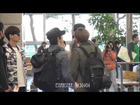 150328 ICN 인천공항 - 은혁 & 동해 Eunhyuk & Donghae focus (happy happy donghae!)