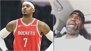 Stephen Jackson loses it because of the way Carmelo Anthony has been treated