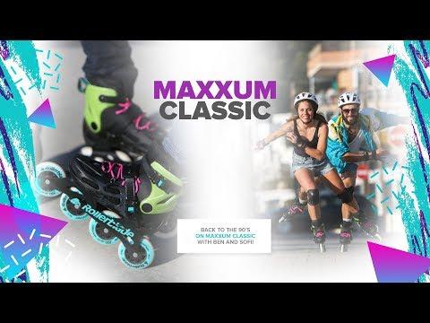 Video ROLLERBLADE Roller freeskate MAXXUM Classic Noir Vert