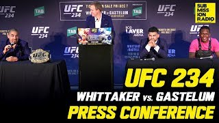 UFC 234: Whittaker vs. Gastelum Press Conference | w/ Whittaker, Gastelum, Israel Adesanya