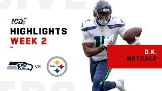 D.K. Metcalf Scores His 1st TD | NFL 2019 Highlights