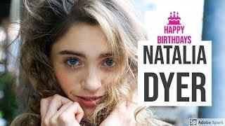 Natalia Dyer Birthday Celebration Video HBD   Stranger Things Netflix