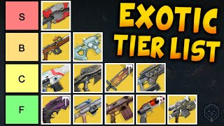 Ranking EVERY Destiny 1 Exotic - Ultimate Tier List of Exotic Weapons