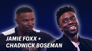 Jamie Foxx Talks Black Panther with Chadwick Boseman || Off Script