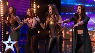 Icy Fire! Girl group puts new spin on Ed Sheeran classic   Britain's Got Talent