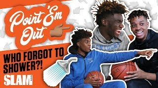High School Hoopers EXPOSED: Who Forgot to Shower?! 🚿 | SLAM Point 'Em Out