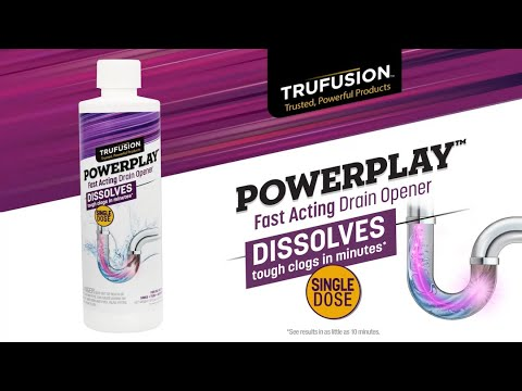 TruFusion | POWERPLAY Fast Acting Shower Drain Opener