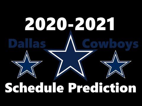Predicting the Dallas Cowboys Schedule 2020-2021 NFL Season