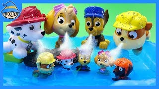 Paw Patrol toys episode. Paw patrol is in the water. Puppy bath & play with bath toys