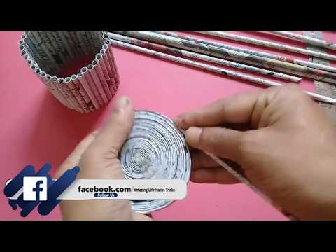 Diy Newspaper Cycle Decorative Piece Best Out Of Waste Craft Idea