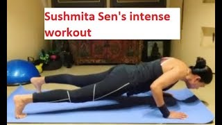Sushmita Sen shares a glimpse of her intense workout sessi..