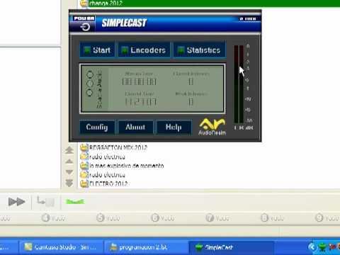 zararadio con simplecast configuracion para transmitir radio online (windows xp)