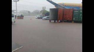 Chuva causa alagamentos em Garibaldi