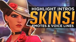 Overwatch: All NEW Ashe SKINS, Emotes & Voice Lines!