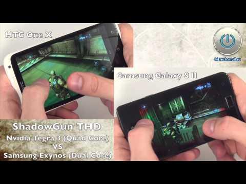 Игра Shadowgun THD (Tegra 3) на HTC One X и Samsung Galaxy S II - сравнение