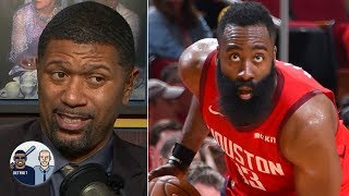 James Harden makes contested shots I've never seen in the NBA - Jalen Rose | Jalen & Jacoby
