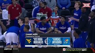 West Virginia vs Kansas Mens Basketball Highlights