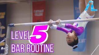 Alizé Lee | USA Gymnastics Level 5 Bar Routine