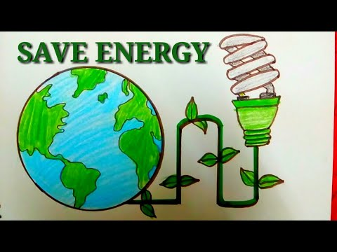 How To Draw Save Electricity Drawing For Kids Videomoviles Com