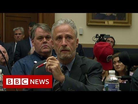 Tearful Jon Stewart rebukes Congress over 9/11 fund - BBC News