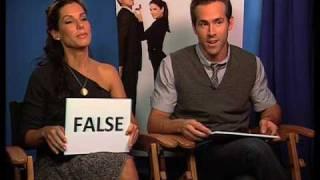 Sandra Bullock and Ryan Reynolds true or false quiz - The Proposal