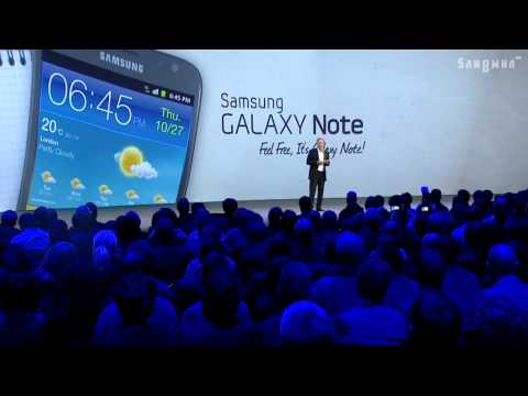 Samsung Galaxy Note World Tour in Europe
