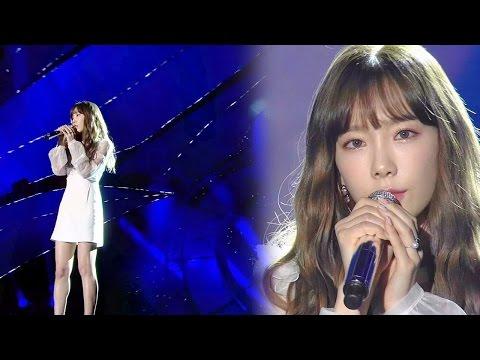 '여신' 태연(Taeyeon)의 감미로운 발라드 '11:11' @2016 SAF SBS 가요대전 2부 20161226