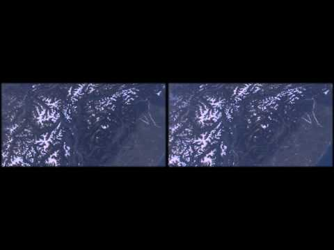 ISS HDEV Earth View from Space Frankreich Österreich Türkei real 3D stereoscopic