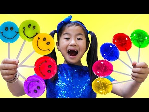 Rainbow Fruit Lollipops Color Song | Jannie Pretend Play Learn Colors Nursery Rhymes & Kids Songs