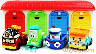 Play Doh Car Surprise Egg Learn Colors with Garage Parking Playset Robocar Poli Toy Cars for Kids
