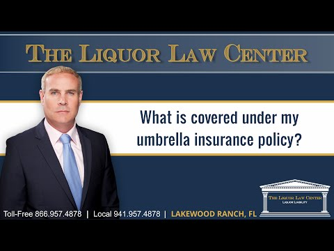 What is covered under my umbrella insurance policy?