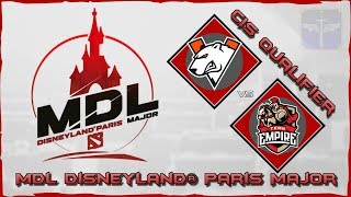 Virtus.Pro vs Team Empire / MDL Disneyland® Paris Major / Eu Closed Qualifier / Dota 2 Live