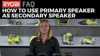 Video: 18V ONE+™ SCORE™ WIRELESS SPEAKER SET