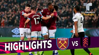 West Ham vs. Fulham: 3-1 Goals & Highlights | Premier League | Telemundo Deportes