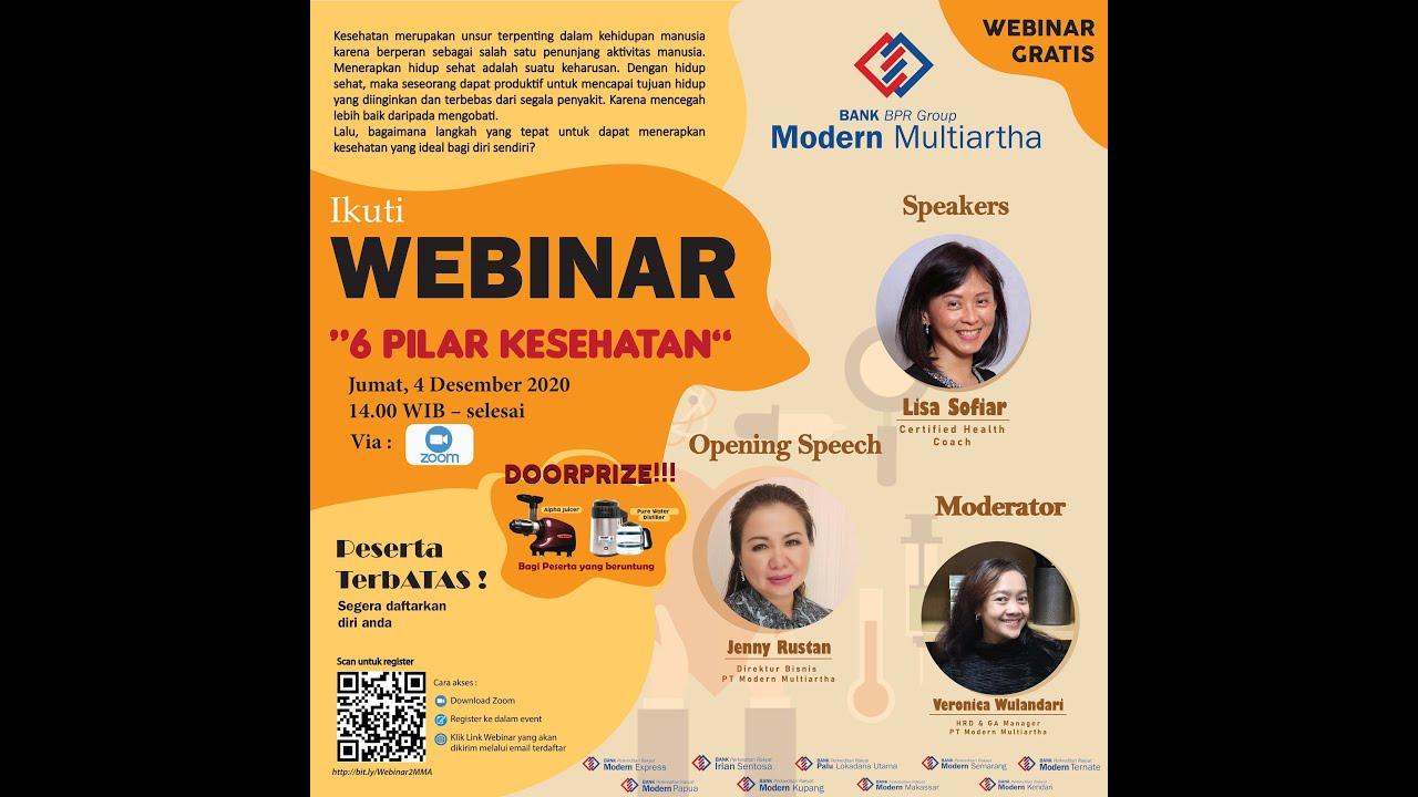 Webinar 2 Modern Multiartha: 6 Pilar Kesehatan