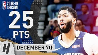 Anthony Davis Full Highlights Pelicans vs Grizzlies 2018.12.07 - 25 Pts, 3 Ast, 11 Rebounds!