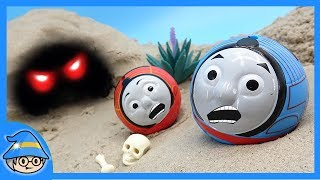 Thomas and friends train. There is a scary ghost in the cave. Rescue the Thomas train.