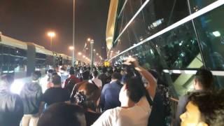 New Year 2017 in Dubai Burj Khalifa - Massive Crowd at Fireworks