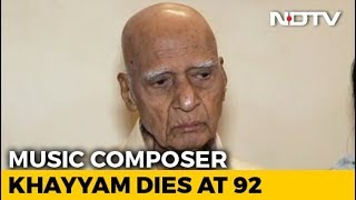 Legendary Music Composer Khayyam Dies At 92..