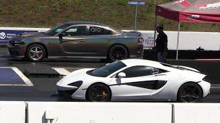 Hellcat vs McLaren - drag racing
