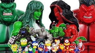Thanos is attacking the Avengers! She-Hulk Go~! Spider-Man, Iron Man, Hulk, Thor, Captain America
